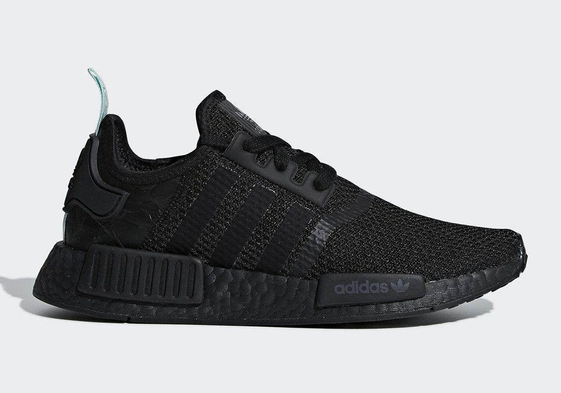 NMD R1 Primeknit CQ2391 Athletic Shoes Running Sneakers Adidas Triple Black