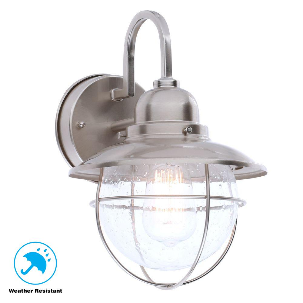 Hampton Bay 1 Light Brushed Nickel