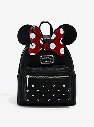 23a24c6fda8 Loungefly Disney Minnie Mouse Bow Ears Mini Backpack,   My Style ...