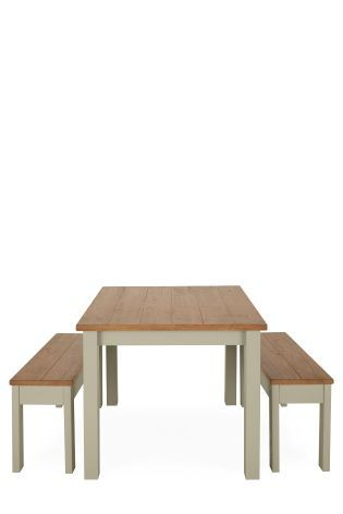 Buy Kendall Painted Dining Table And Bench Set From The Next UK Online Shop