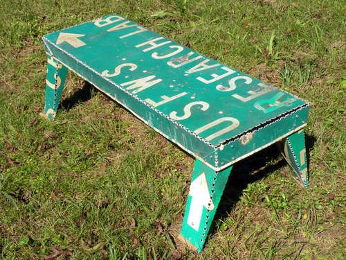 Road Sign Coffee Table DIY
