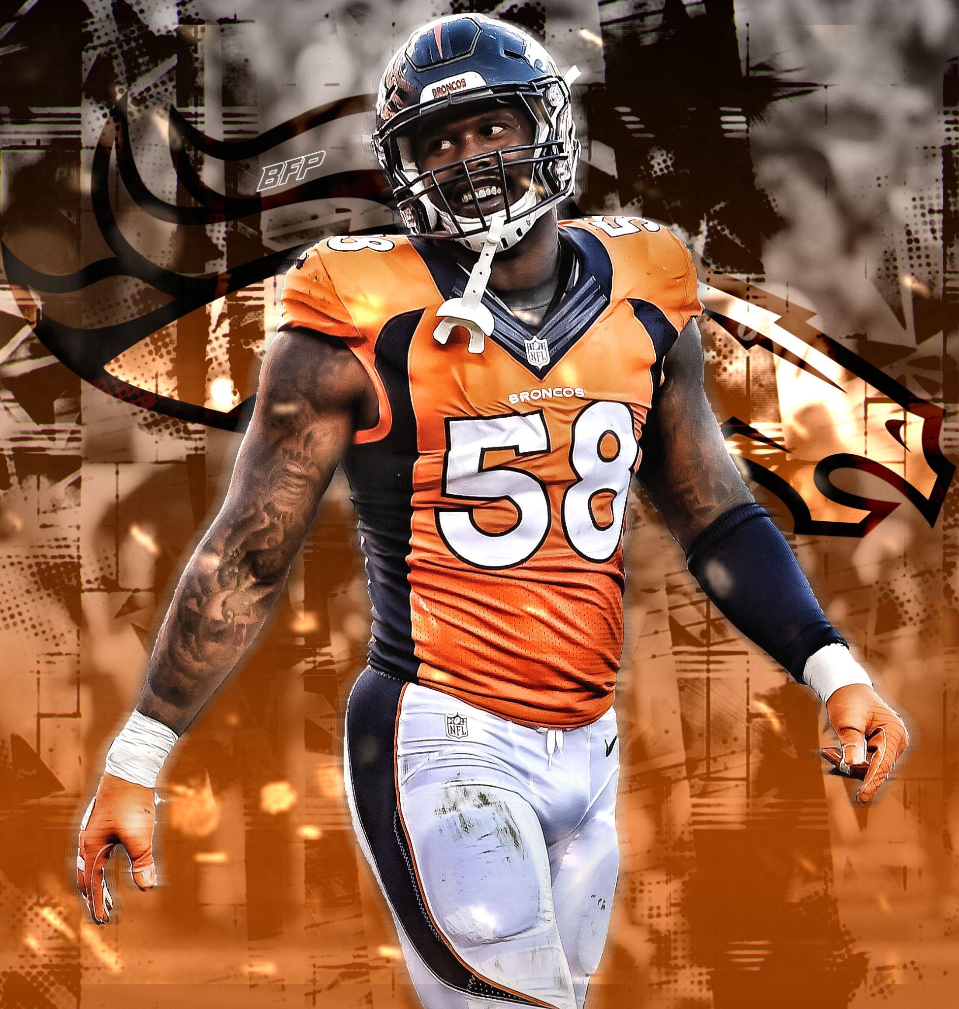Von Miller Denver Broncos Linebacker Denver Broncos Denver Broncos Football Denver Broncos Logo