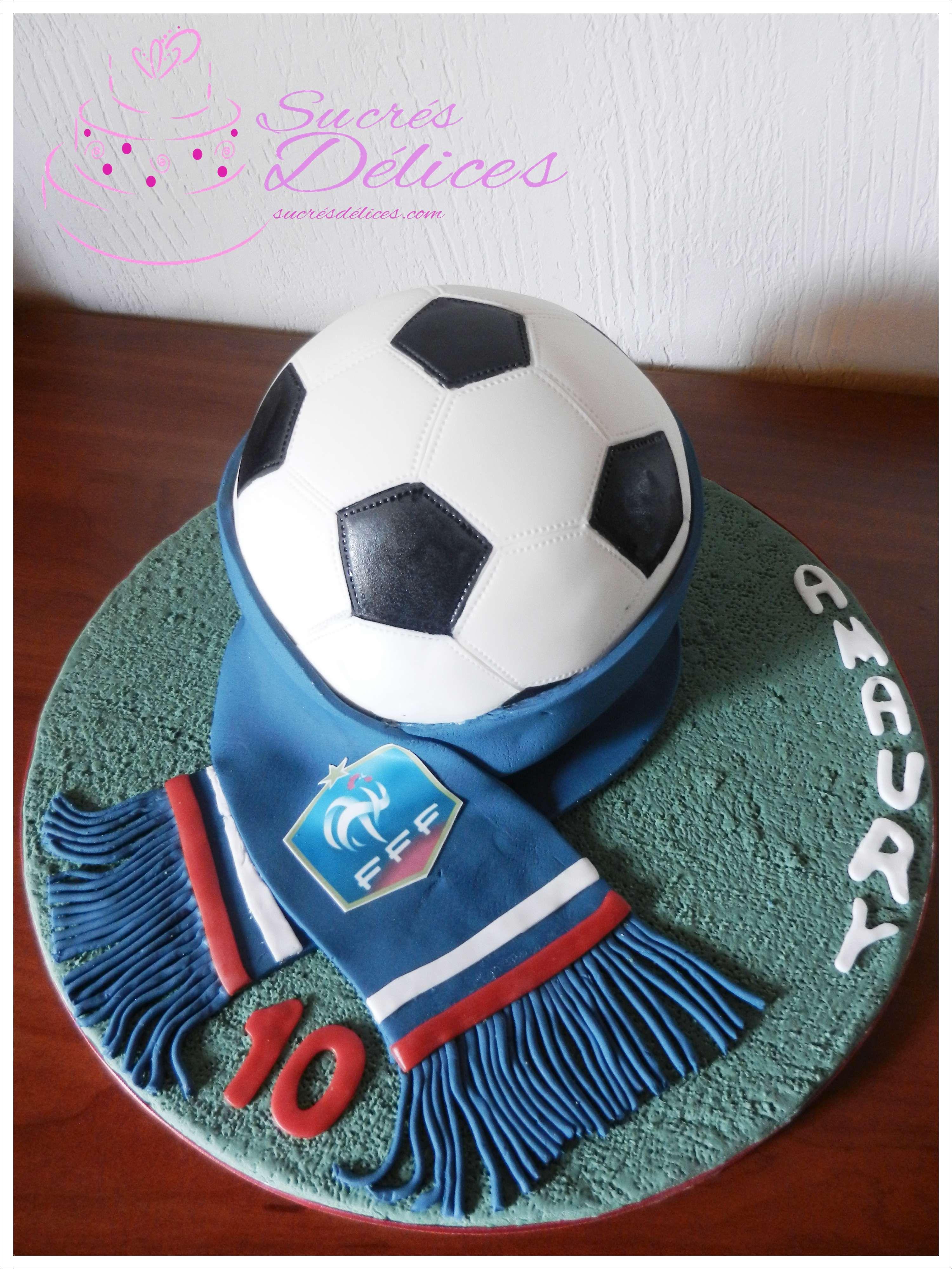 Gâteau Foot France réalisé pour les 10 ans de mon fils | Anniversaire foot, Gateau anniversaire ...