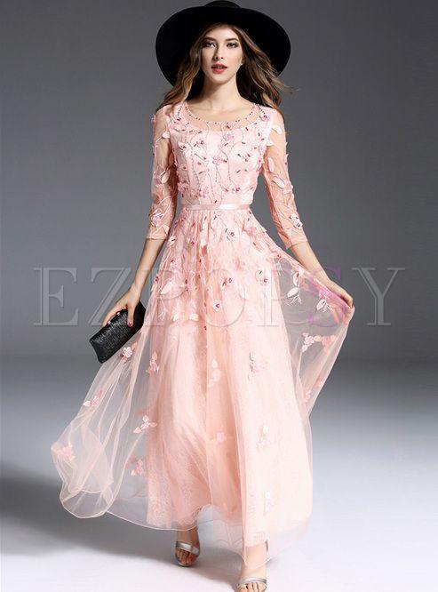 A line maxi dress online