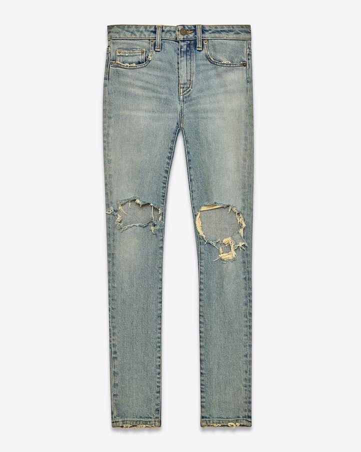 f0f32cddece YSL Denim Pants | Favorite Denim | Green skinny jeans, Denim skinny ...