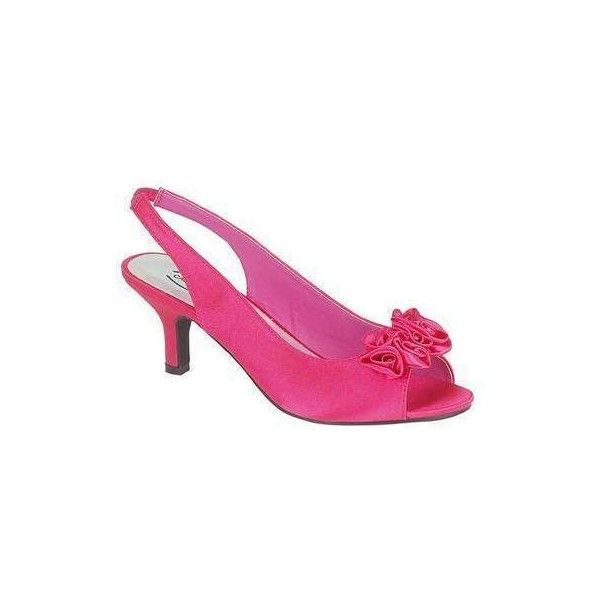 Hot Pink Fuschia Kitten Heel Satin Wedding Occasion Prom Shoes found on  Polyvore featuring polyvore fa6fe1fb53
