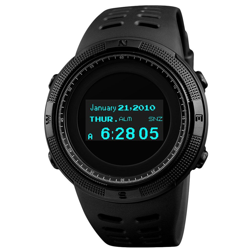 Men's Watches Top Luxury Brand Skmei Sports Watches Men Oled Display Wristwatches Pedometer Calorie Compass Waterproof Digital Watch Relojes Watches
