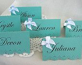 Tiffany & Co blue place escort name card wedding printed Shabby Chic 25 Piece Set  Any Color