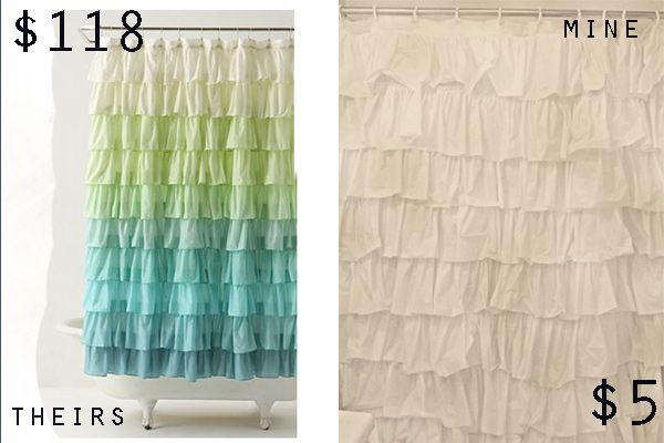 Anthro Inspired Ruffle Shower Curtain