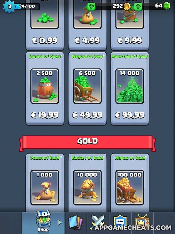 Clash Royale Hack & Cheats for Cards, Gold, Gems, & Chests