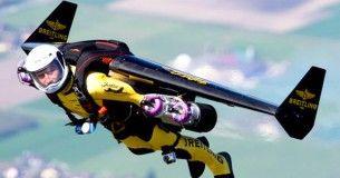 It's a Bird, it's a plane? No it's a Man with aerodynamic wings......i'm flying!