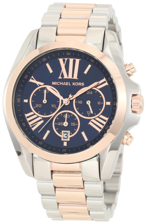 a138adeae #MichaelKors Michael Kors - Mid-Size #Bradshaw #Chronograph #Watch, Silver-Color/#Rose  #Golden - #MK5606