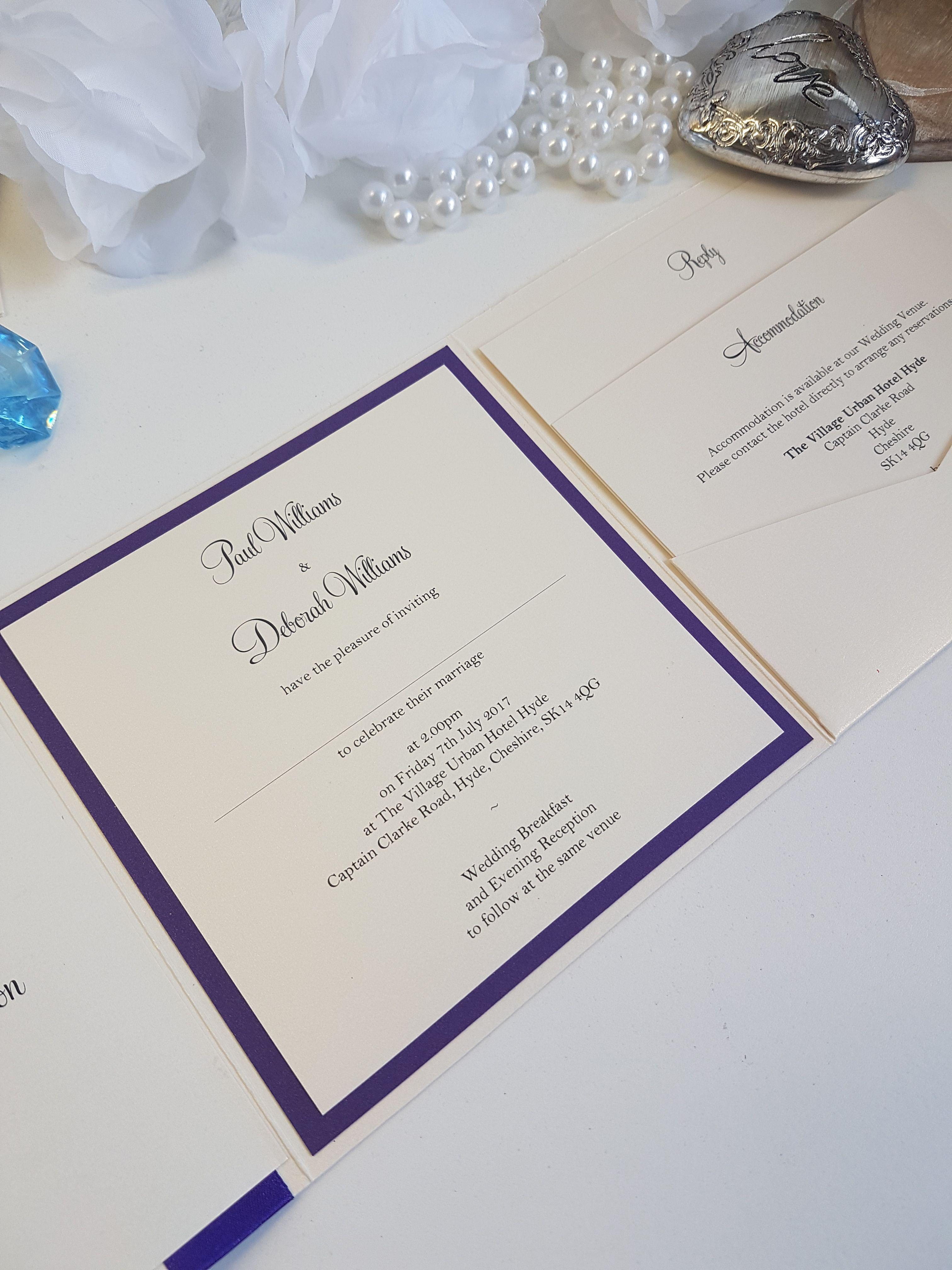 Pocketfold wedding invitations. Personalised stationery. UK wedding ...