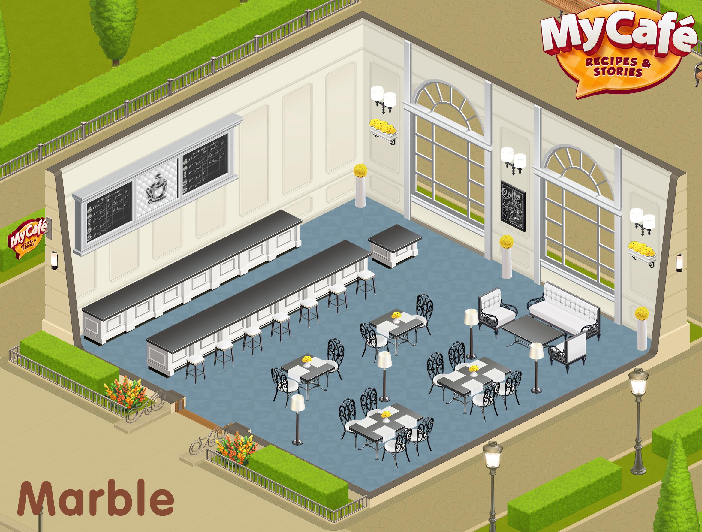 Marble French Style My Cafe Game Mycafe Mycafegame Design De