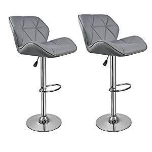Superb Grey Breakfast Bar Stools With Backs Hollylife 2 X Modern Inzonedesignstudio Interior Chair Design Inzonedesignstudiocom
