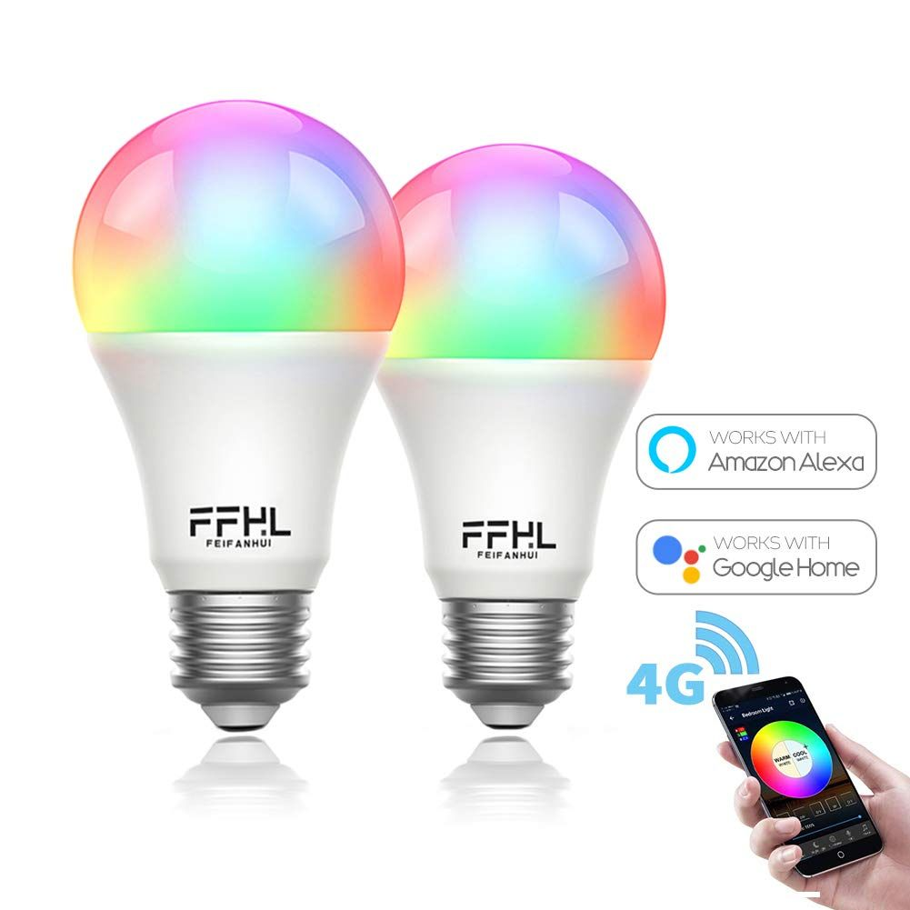 Ffhl Wifi Led Smart Light Bulbs That Work With Alexa Color Changing And Daylight Dimmable By App For Smart Light Bulbs Smart Lighting Color Changing Light Bulb