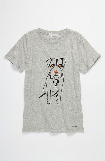 Burberry Dog Screenprint T Shirt Little Boys Big Boys Nordstrom Shirts Big Boys T Shirt