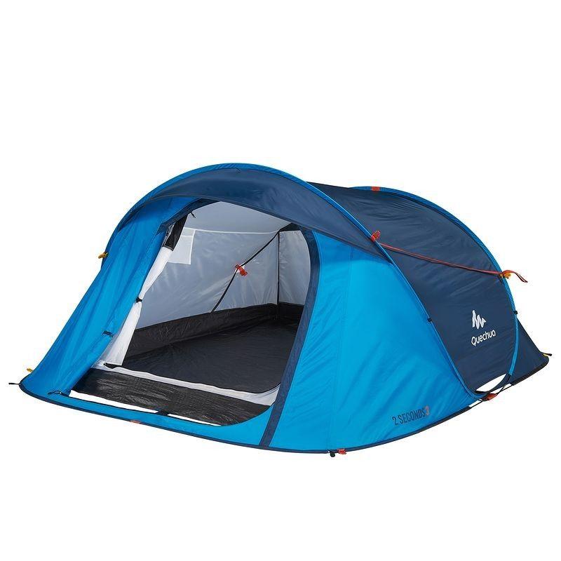 Tente 2 Seconds Easy 3 Bleu Quechua Tente Decathlon Iziva Com Lit Camping Equipement De Sport Camping Et Randonnee