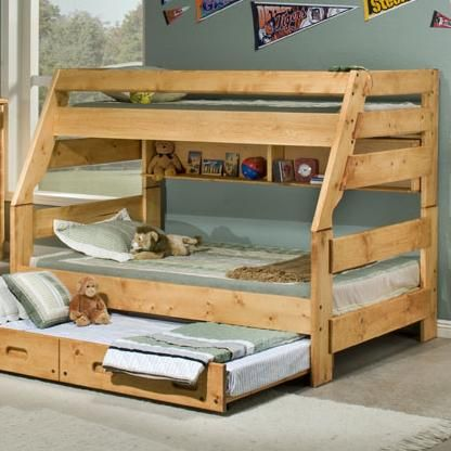 Bunkhouse Twin Full High Sierra Bunk Bed By Trendwood