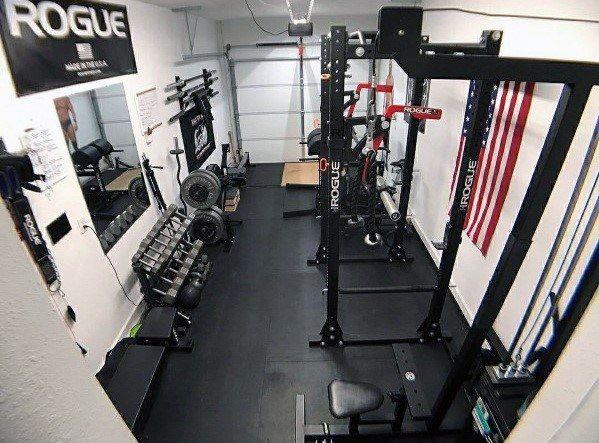 Top 40 Best Home Gym Floor Ideas - Fitness Room Flooring Designs images