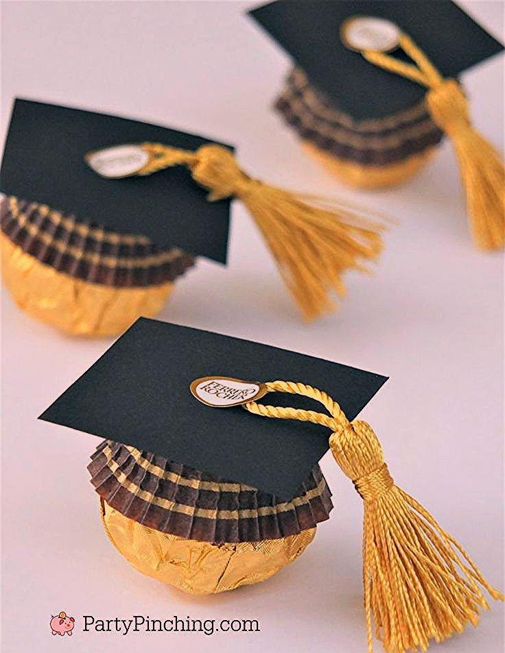 Photo of Ferrero Rocher Candy Graduation Caps, süße Candy Graduation Gefälligkeiten, DIY Grad Fav …