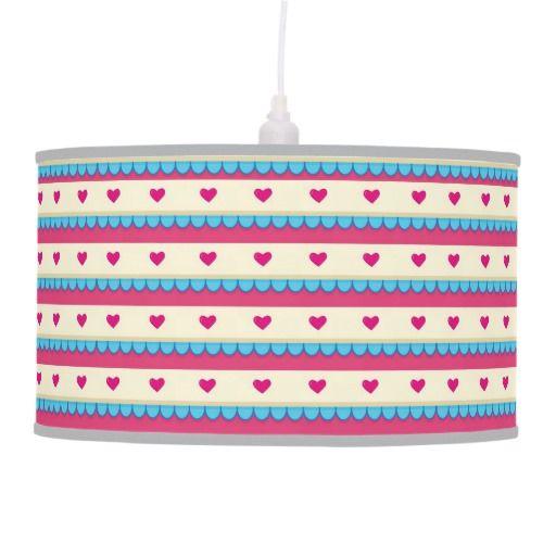 Retro Hearts Custom Lamp