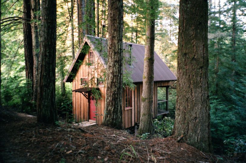 Owl Tree cabin in Albion, California.  Contributed by Jez Burrows.