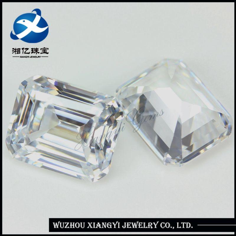 749e0edf77298 Beautiful Emerald Cut 8x10mm Synthetic Diamond Price Per carat ...