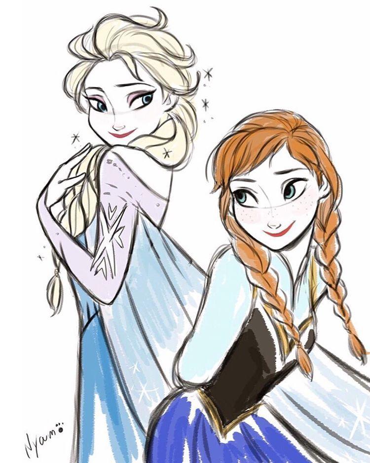Dibujar En Ipad Frozen Elsa Anna Fanart Myart Disney Drawings Frozen Fan Art Disney Art
