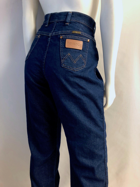 Vintage Maverick Blue Jeans Denim Straight Leg Waist 32 Inseam 30