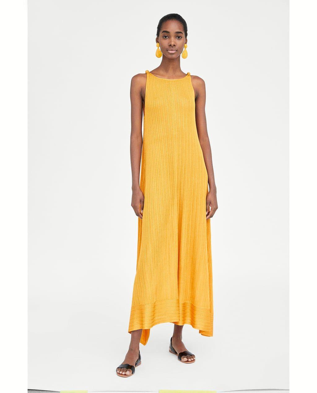 long dress with knots-new in-woman | zara united kingdom