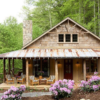 Genial ... Fit Prefect In My Absolutely Favorite Wood Place In NY. Perfect Little  Cabin Plan! Whisper Creek Plan   17 House Plans With Porches   Southern  Living