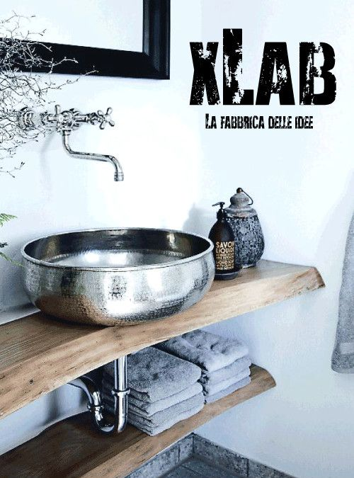 Acquista online arredo bagno mensola per piano lavabo in legno ...