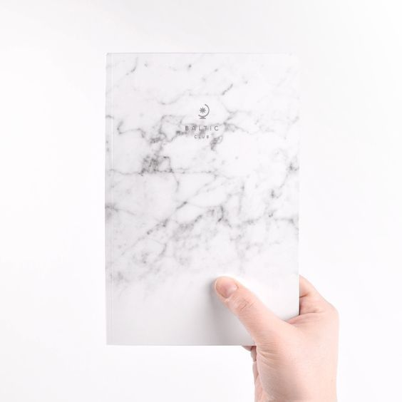 Marble perfect bound notebook by Baltic Club