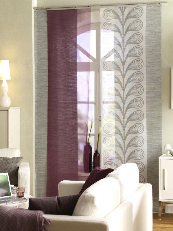 Ikea Schiebegardine schiebegardine in lila grau