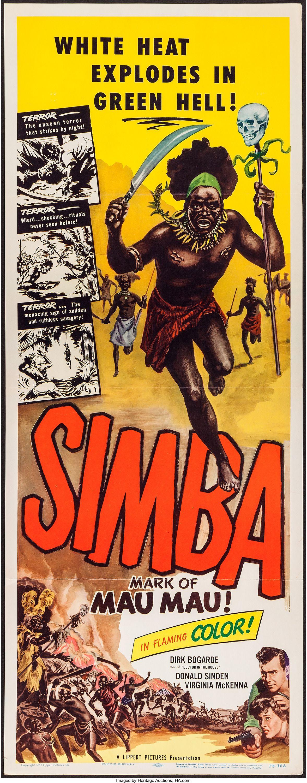 Simba: Mark of the Mau Mau (Lippert, 1955). Insert (14\