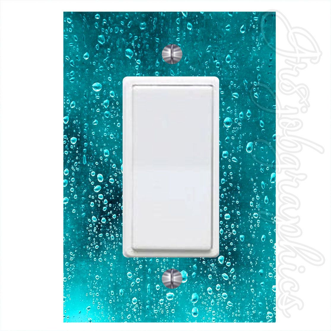 Plastic Light Switch Covers Light Switch Decal Plastic Cover Dark Water Dew Pattern Peel And