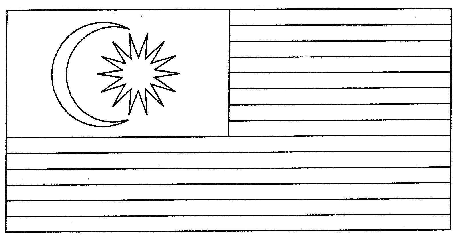 Bendera Malaysia Gambar Mewarna Colouring Picture Flag