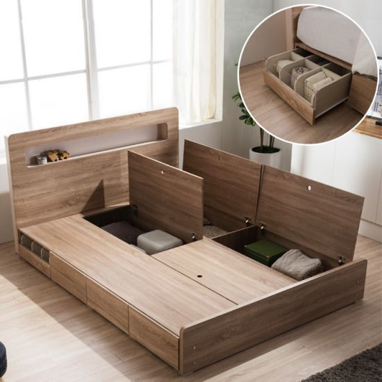 Or Even Lift Up Storage Underneath Without The Ikea Lift System Thing Furniture Design Wooden Bed Frame Design Bedroom Bed Design