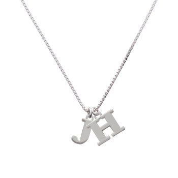"""18/"""" or 24 Inch Chain Necklace /& Alphabet Letter M Pendant Charm Name Initial"""