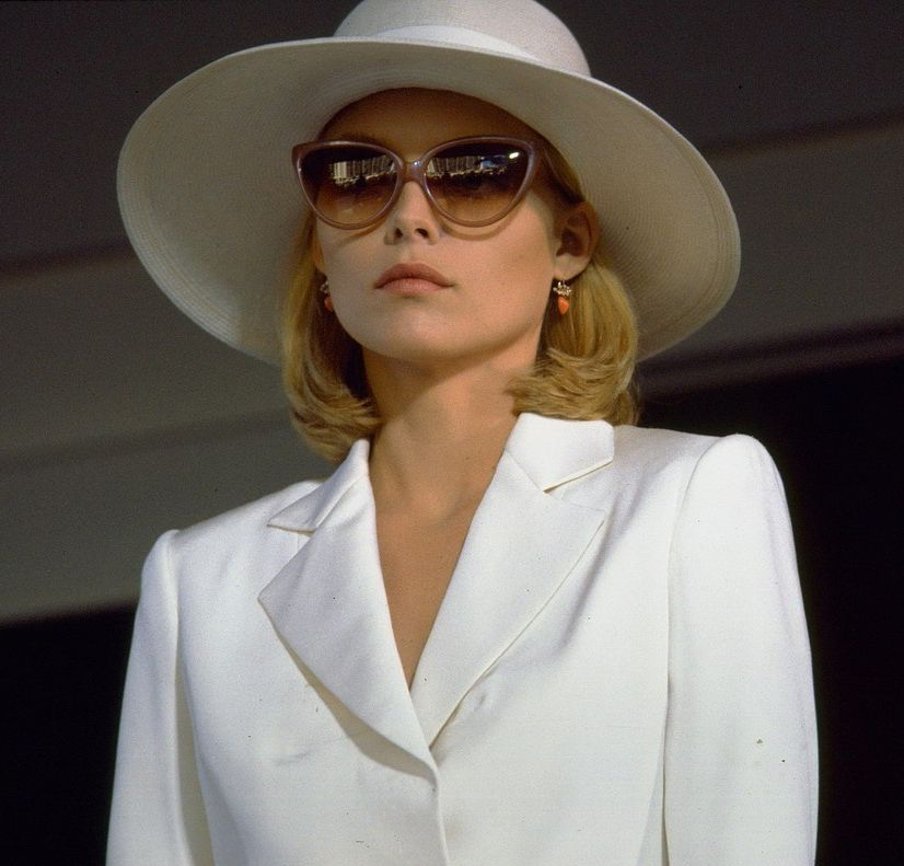 81c83505618 Michelle Pfeiffer in Scarface. These sunglasses have haunted my dreams for  years.