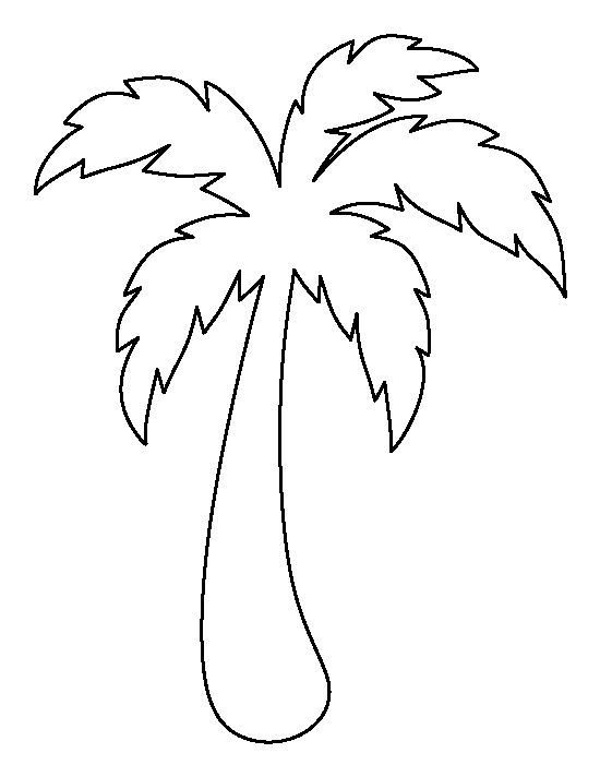 flamingo patterns to cut out wowcom image results palm tree - Palm Tree Branches Coloring Pages