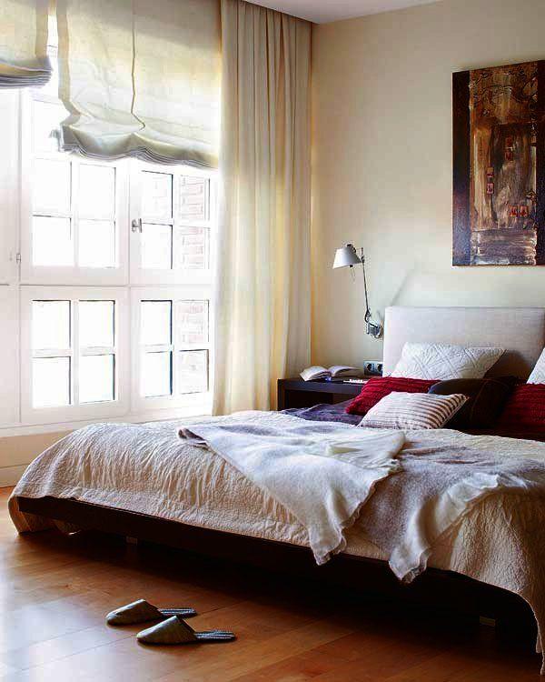Diez ideas para combinar cortinas y estores estor for Cortinas habitacion matrimonio