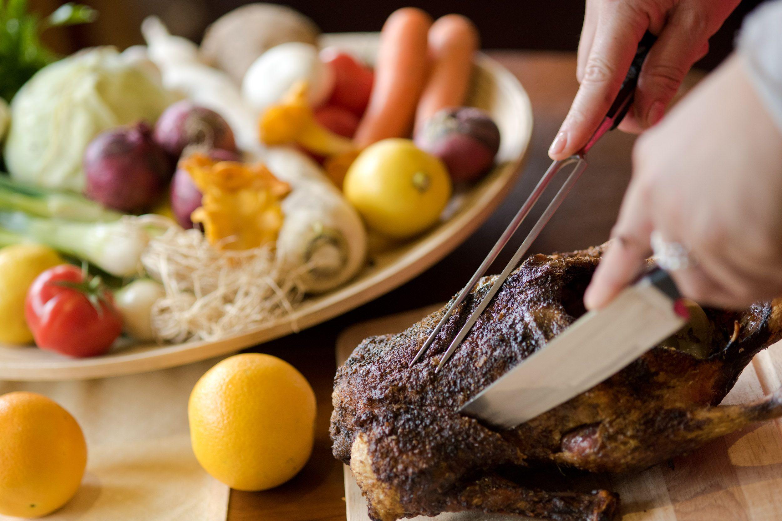 Tranchiertes Huhn - kulinarische Überraschung im Hotel Almrausch****   www.almrausch.co.at