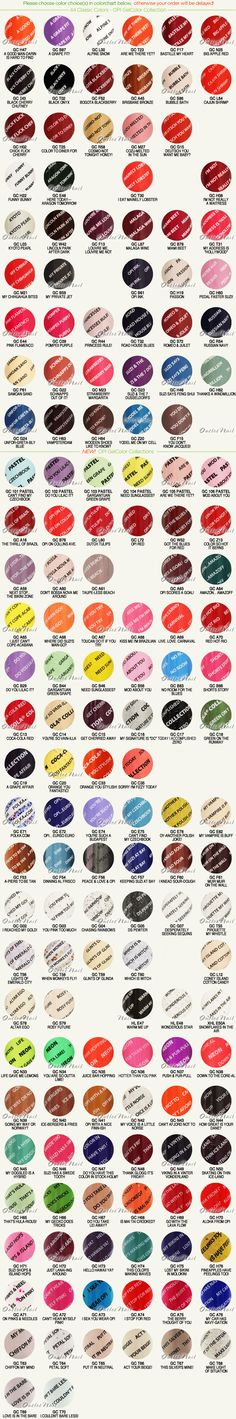 Outletnail Items Get Great Deals On Opi Gelcolor Color Chart Items