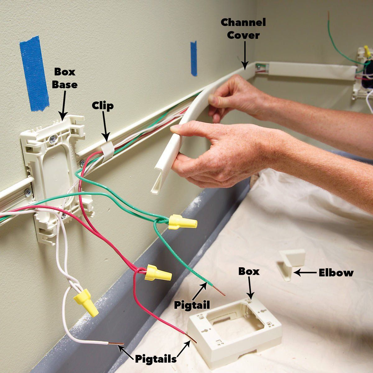 How To Add Outlets Easily With Surface Wiring Electrical Wiring Electrical Wiring Outlets Diy Electrical
