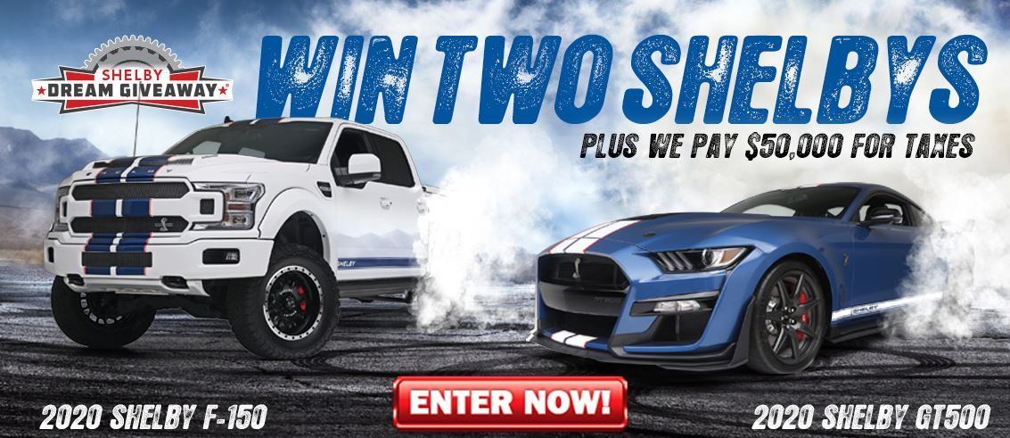 Win a Shelby Supertruck + Shelby GT500 in charity