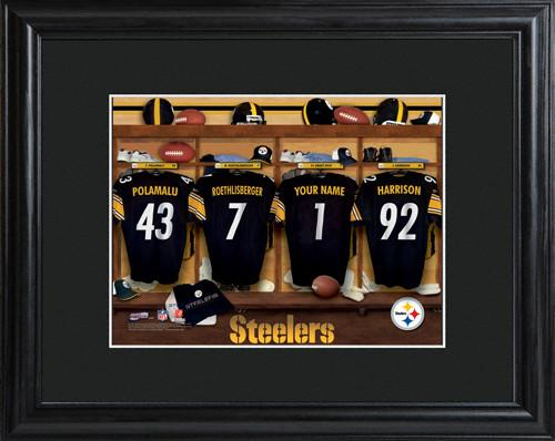 NFL Locker Print with Matted Frame - Steelers Who says you can t play with  the big guys ! Our Officially Licensed NFL locker room photo puts you in  the ... 9b92a768f