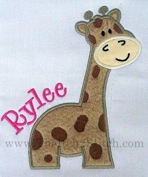 Giraffe Applique  Appliqu Jirafas Leones  Pinterest