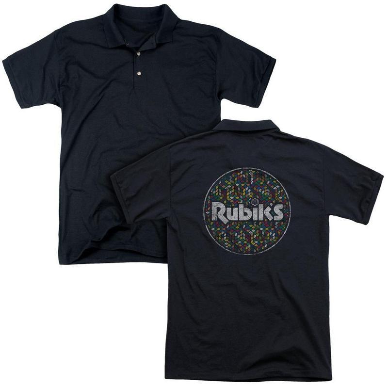 bdf80eb21ac3 ApparelPop! Mens Regular Fit Polo Rubik's Cube - Circle Pattern ...
